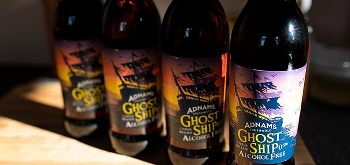 Adnams zero alcohol Ghost Ship