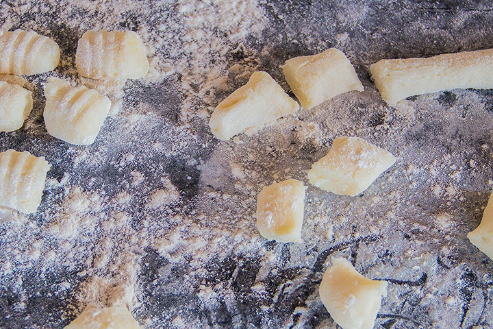 Gnocchi ready to cook