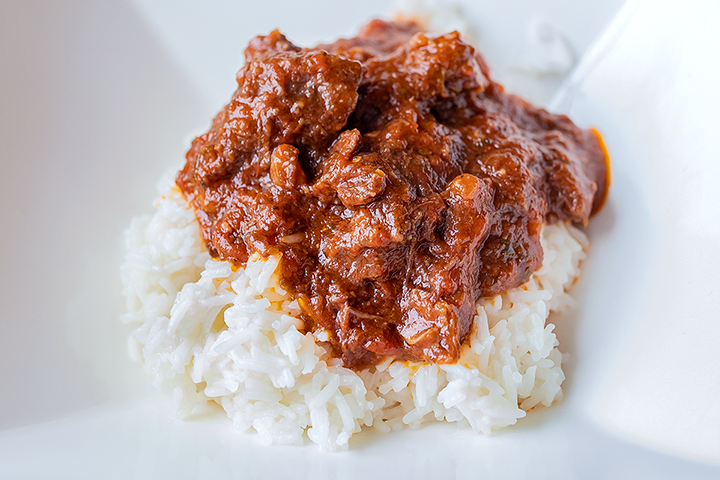 Goat stew with rice
