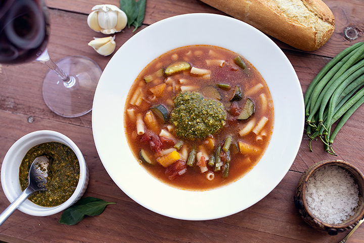 Provencale vegetable soup (soup au pistou)