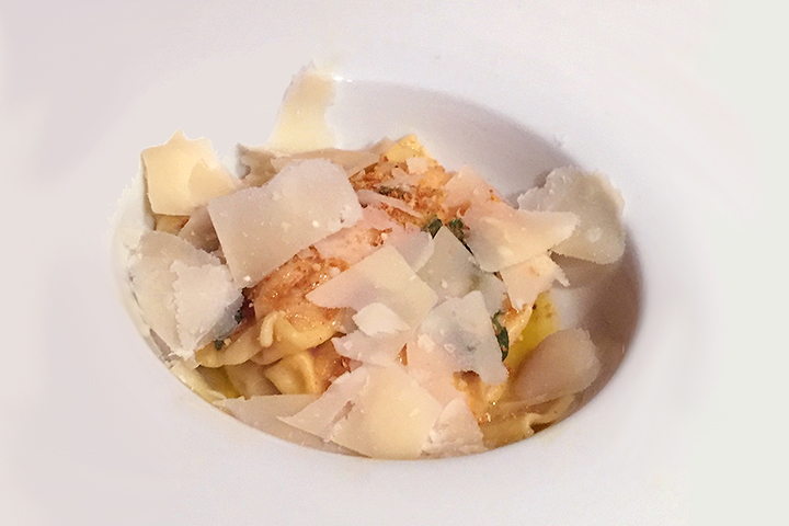 Butternut squash and amaretti ravioli