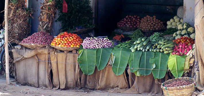 Veg shop in rural India